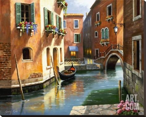 Venice Afternoon Stretched Canvas Print by Sung Kim at Art.com