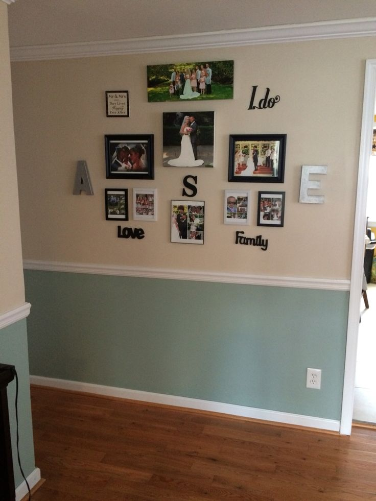 Zen by behr bottom and natural almond by behr top Wedding