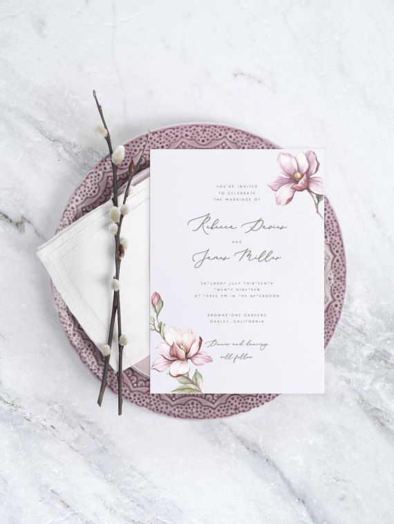Floral Wedding Invitation Template Printable Wedding Invite Templett