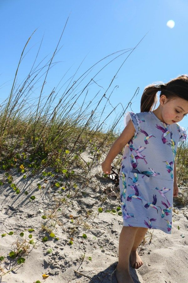 66c3f49c1 ... Eden Fair Trade Eco-Friendly. Organic Cotton Clothing For Kids |  Toddler Dress With Flutter Sleeves Hummingbird Print | Vegan Sustainable Fair  Trade