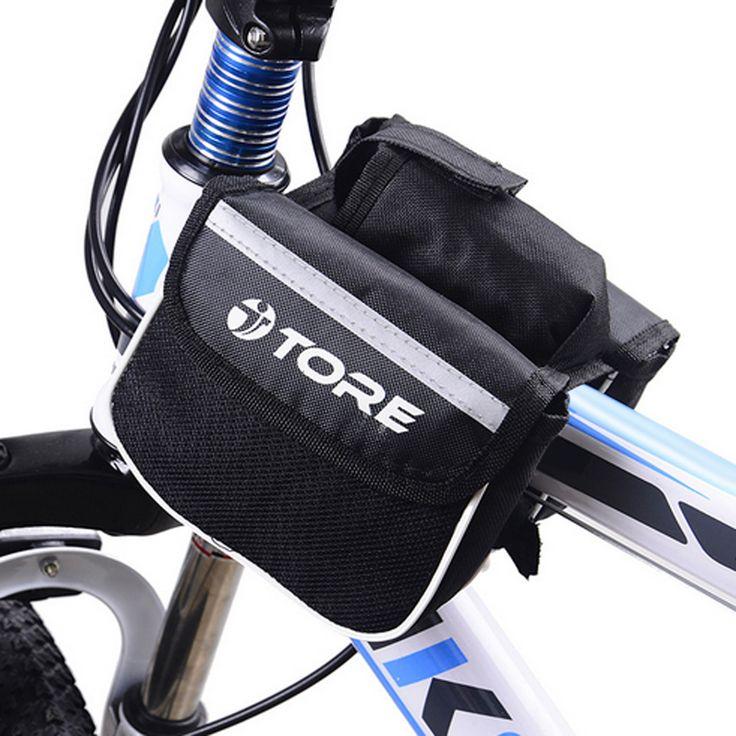 Telaio Anteriore Pannier Del Sacchetto Del Tubo della Bici della bicicletta Top Ciclismo Doppio Sacchetto Del Sacchetto Del Supporto Con La Bottiglia di Acqua Mountain Bike Accessori