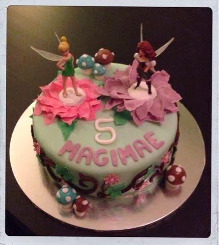 Bespoke Cakes by Claire: Tinkerbell and the pirate fairy birthday cake