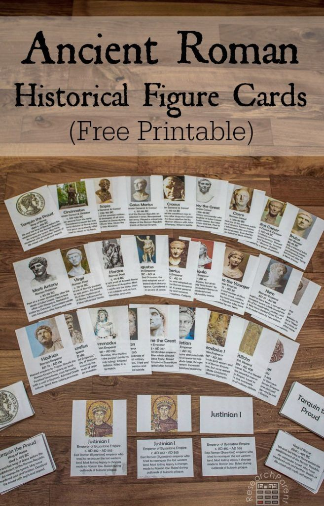 Studying Ancient Rome? Grab these free printable Montessori-inspired Historical Figure Cards for great review! :: www.thriftyhomeschoolers.com
