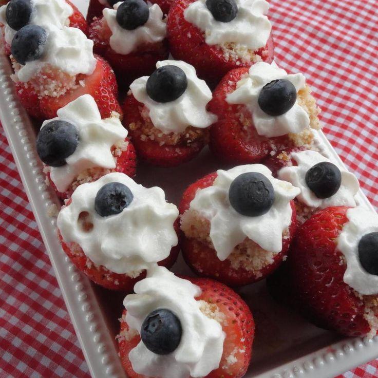 Strawberry Shortcake Red White & Blue Bites