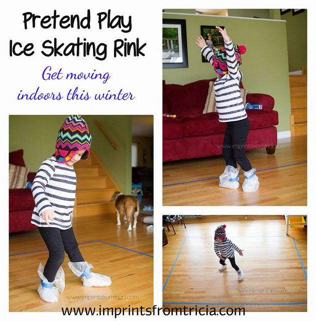 A little Mozart and pretend play ice skating rink! Great way to get moving and beat the winter blues!