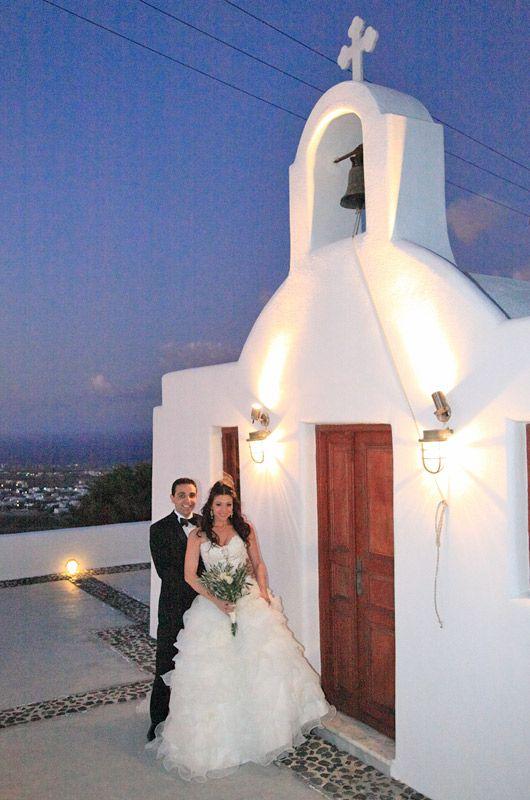 Church wedding #Santorini #Greece