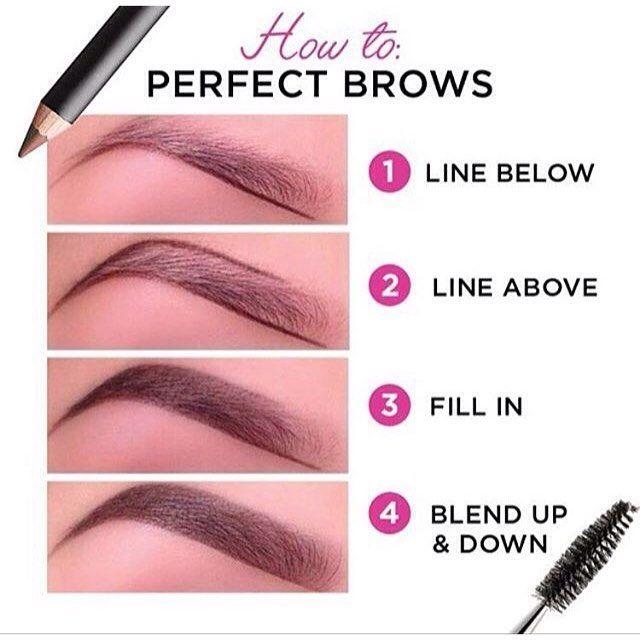 Good tutorial on filling eyebrows