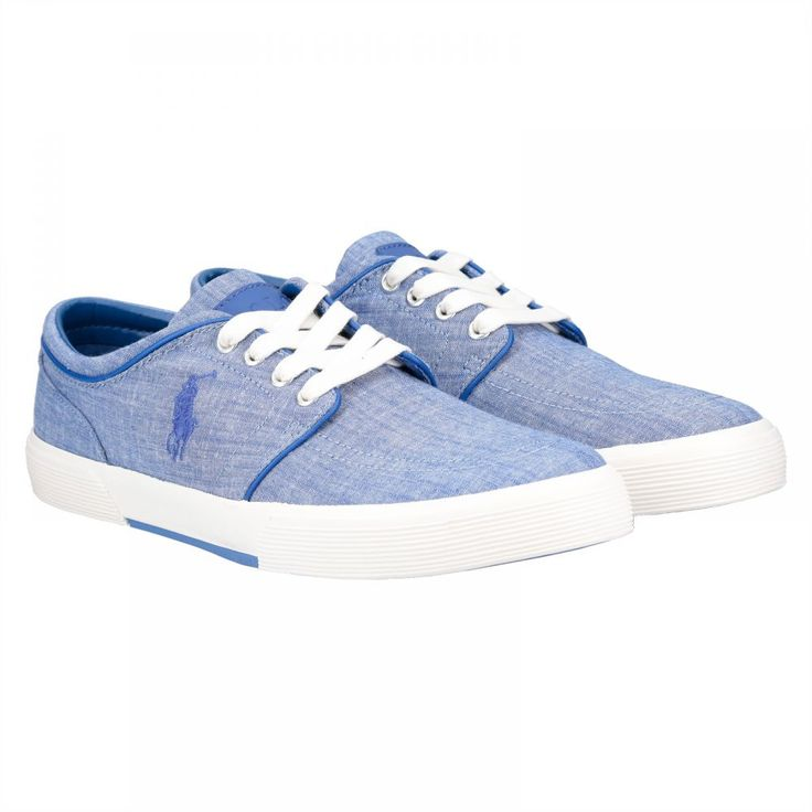Buy Polo Ralph Lauren Faxon Fashion Sneakers for Men - Blue - Casual & Dress Shoes | UAE | Souq
