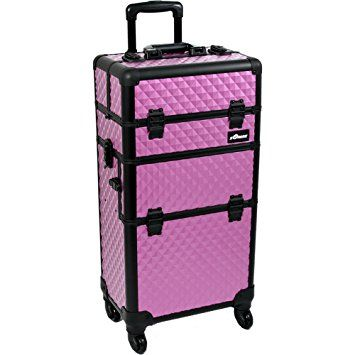 SUNRISE Makeup Case on Wheels 2 in 1 I3761 Professional Artist, 2 Slide and 1 Removable Tray, Brush… Review