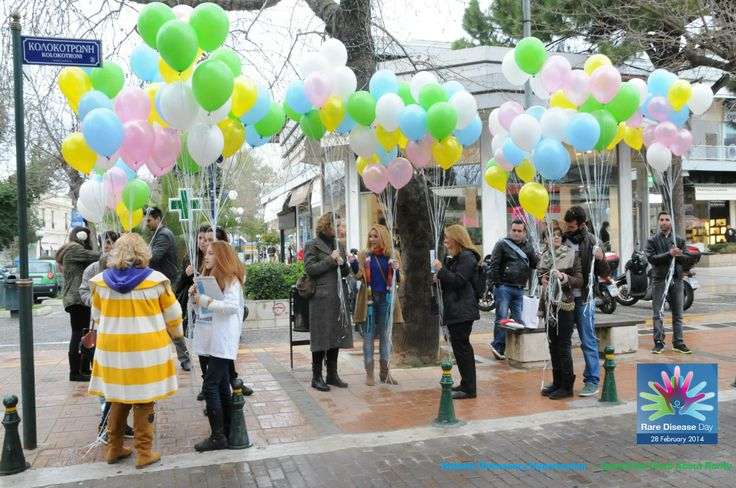 "For Word Rare Disease Day 2014 Kifisia was fulfilled with colors from Hellenic Pulmonary Hypertension and "" Spread the Word About Rarity """