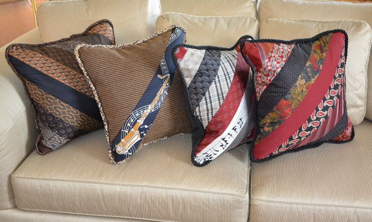 These pillows were made from ties that belonged to my late father. I created these wonderful keepsakes for family members who were near and dear to my dad.