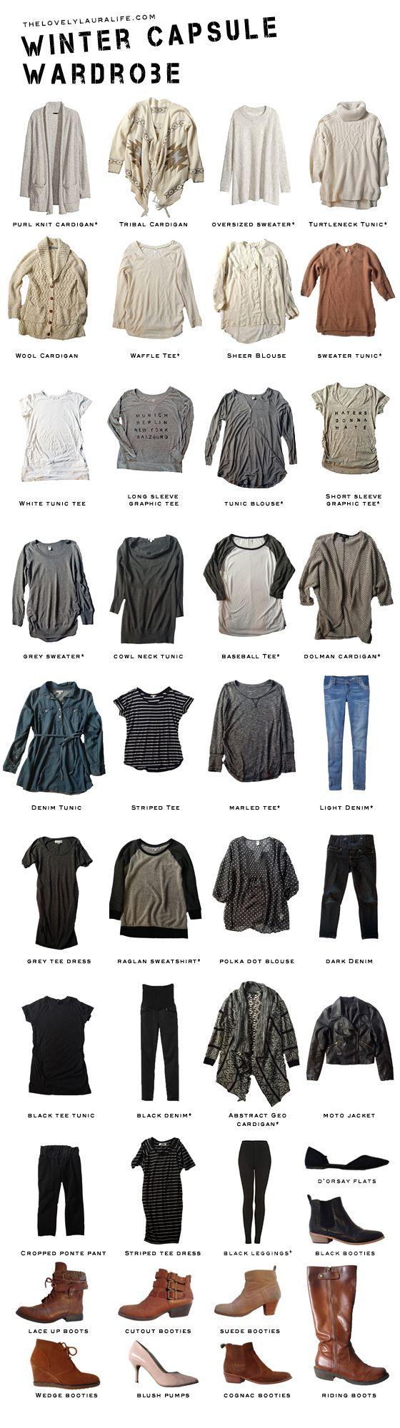 my winter [maternity] capsule wardrobe