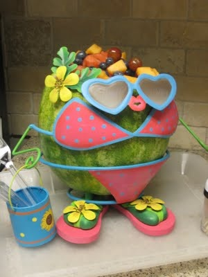 Pool party watermelon fruit salad For Kayla & Courtney for the pool!