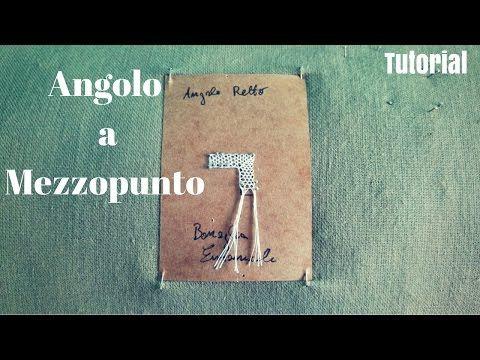 Encaje de bolillos - Angulo con Punta (ESP) - YouTube