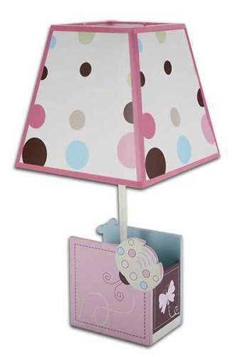 Ladybug Lullaby Lamp & Shade by Nojo Polka dots Nursery Gift Baby Pink Brown  #Nojo