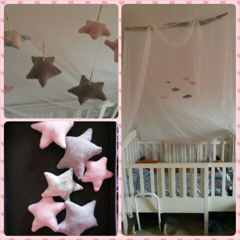 Diy crib canopy and mobile♡