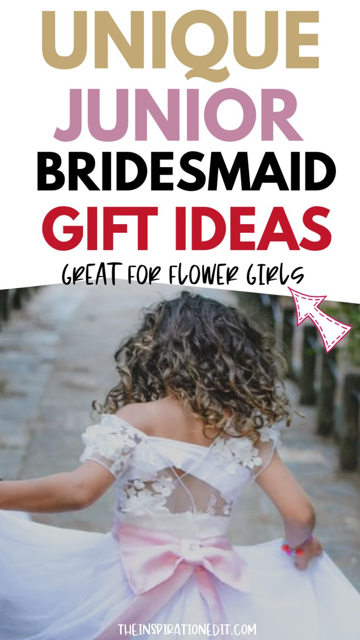10 Cute Junior Bridesmaid Gifts. If you have a special young lady performing the role of junior bridesmaid on your big d…
