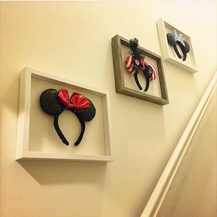 I LOVE this! What a fun idea for displaying your Mickey Mouse ears in-between vacations.