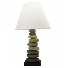 Zen Decor: Resin Cairn Decorative Lamp. I love this because it reminds me of New Zealand