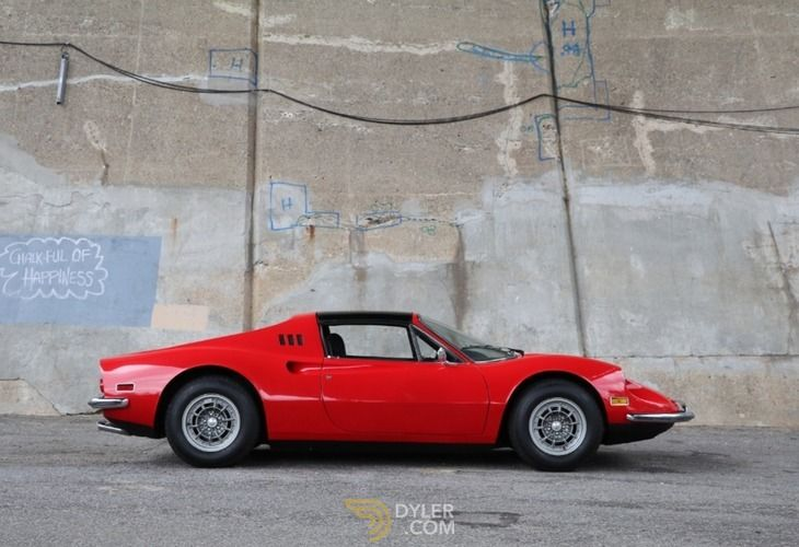 Ferrari 246 Gts Dino Coupe 1974 Red Gts Dino Car For Sale 214644
