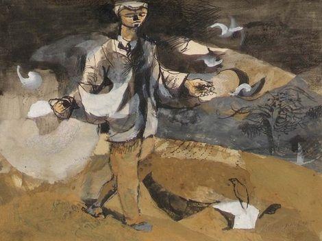 Keith Vaughan, The sower,1946 on ArtStack #keith-vaughan #art