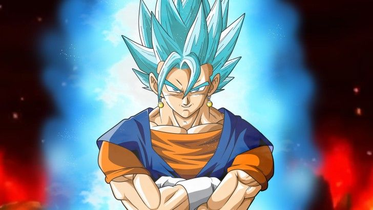 Vegito Goku Vegeta Fusion Super Saiyan Blue DBS Wallpaper - Visit now for 3D Dragon Ball Z compression shirts now on sale! #dragonball #dbz #dragonballsuper