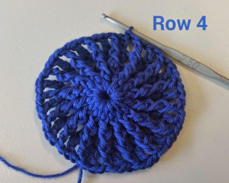 Rusia Niñas Casquete de Patrones La Espiral Uno Paso a Paso | Patrones Crochet, Manualidades y Reciclado