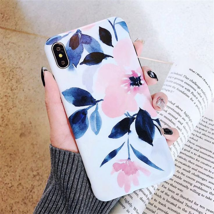 #Glossy #Flower #PhoneCase #iPhoneCase 7 Plus XS Max XR X 6 6s 7 8 Plus Soft TPU Cover