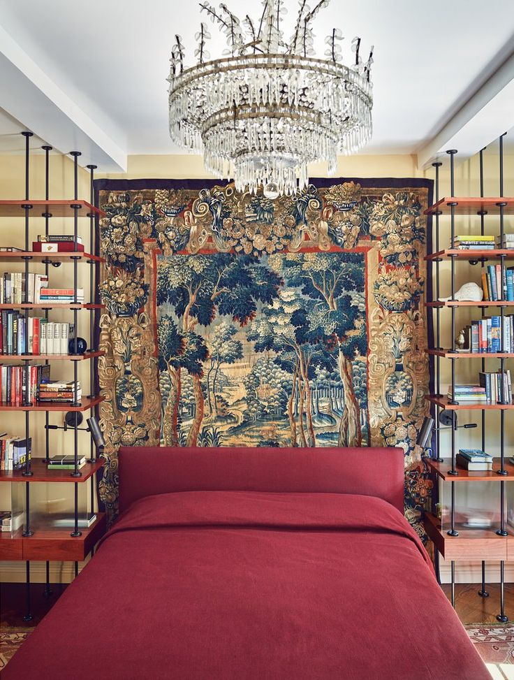 Cotton s idea of a   library bedroom   includes a Verdure tapestry and  Bagu s. Best 25  Library bedroom ideas on Pinterest   Bookshelves in