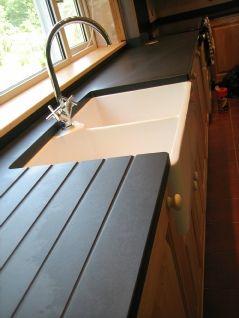 Welsh Slate worktop with Butler's sink