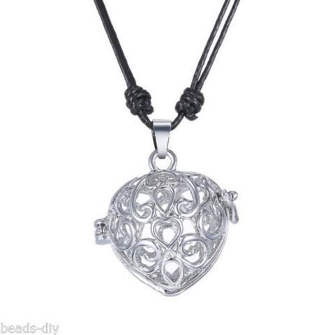 BD Hollow Musical Heart Pregnancy Antenatal Training Adjustable Pendant Necklace