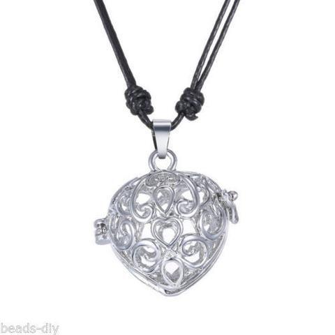 BD Hollow Musical Heart Pregnancy Antenatal Training Adjustable Pendant Necklace