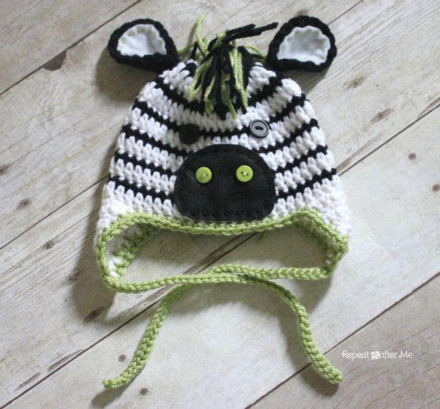 Zebra Pattern Horse Rug: So Cute!!! ****Repeat Crafter Me: Crochet Zebra Hat