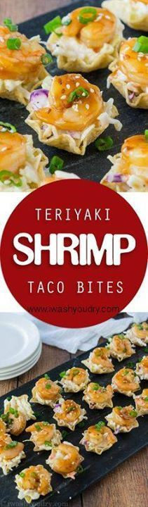 These Teriyaki Shrim These Teriyaki Shrimp Taco Bites are...  These Teriyaki Shrim These Teriyaki Shrimp Taco Bites are everything you love about a shrimp taco but in a pop-able bite-sized form! Saucy coleslaw tender sweet teriyaki shrimp and a crunchy tortilla chip scoop! Perfect for appetizers! Recipe : http://ift.tt/1hGiZgA And @ItsNutella  http://ift.tt/2v8iUYW