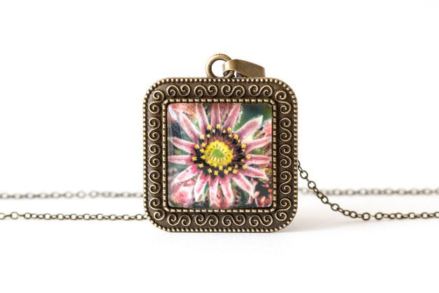 Naszyjnik z rojnikiem / Houseleek necklace - Art-Of-Nature