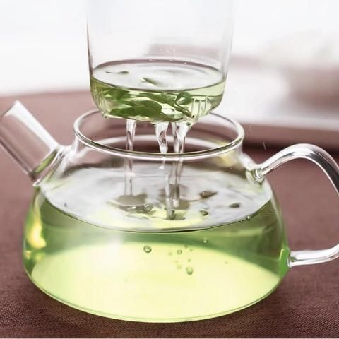 Nonxis Heat Resistant 750 ml Glass Flower Tea Pot With Filter