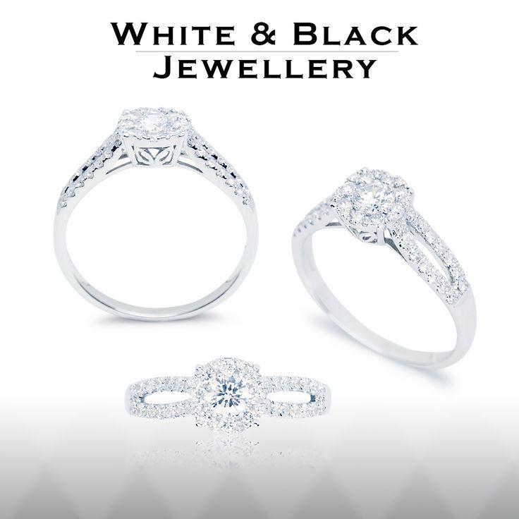 Choir gyémánt eljegyzési gyűrű 0,55 karát briliánssal - Choir engagement ring with 0,55ct diamonds