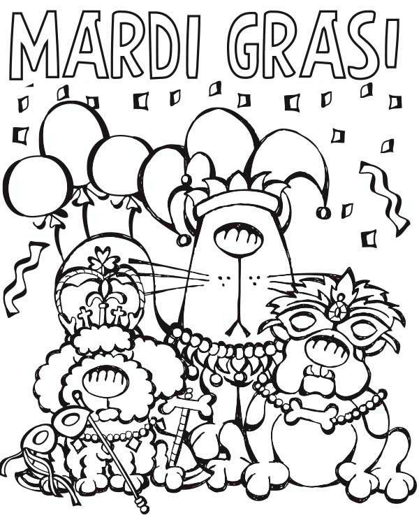 printable madi gras coloring pages - photo#21