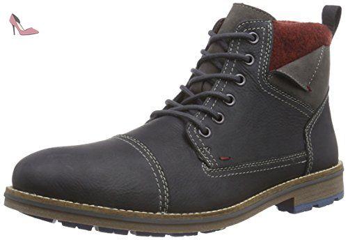 Rieker  F1530, Bottes Classics courtes, doublure froide hommes - Gris - Grau (coal/fumo/bordeaux / 46), Taille 43 EU - Chaussures rieker (*Partner-Link)