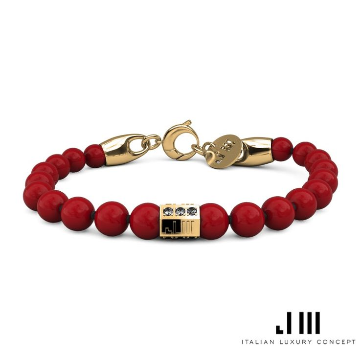 Red Coral x 18kt Yellow Gold x Black Diamonds || Corallo x Oro Giallo 18ct x Diamanti Neri