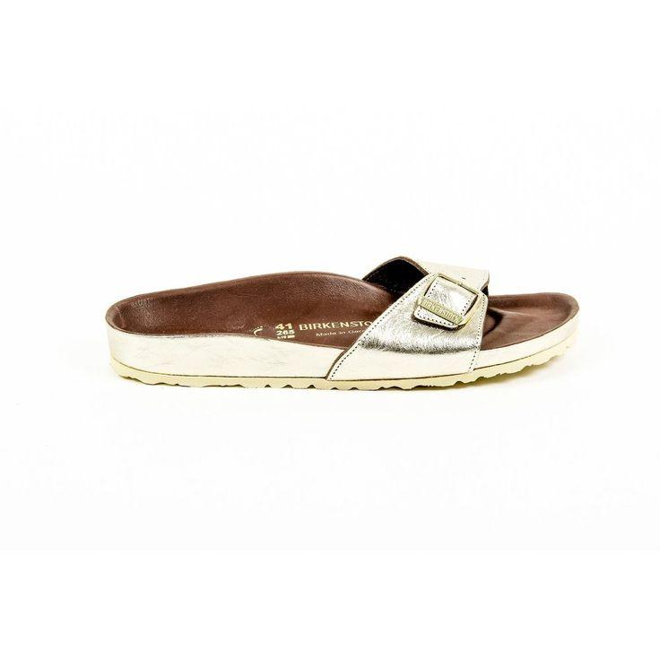 Gold 41 EUR - 11 US Birkenstock Womens Flat Sandal MADRID 43929