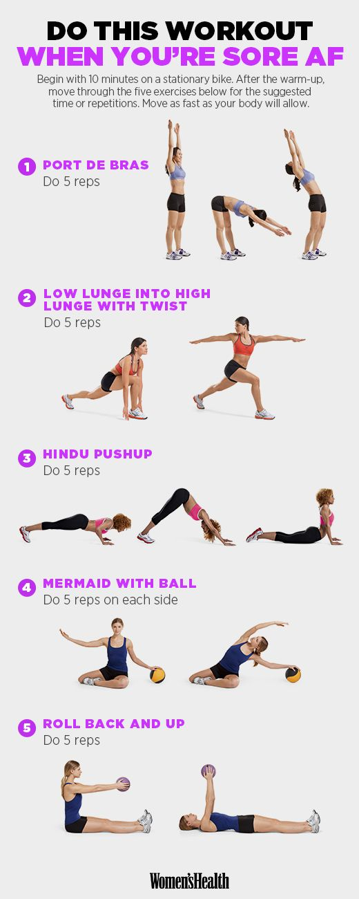 Do this workout when you're sore AF