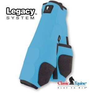 Classic Legacy SMB Sports Medicine Boots Turquoise Hind Large by Classic. $69.99. Classic Legacy SMB Sports Medicine Boots Turquoise Hind Large : The new standard in support, with suspensory rib positioned between the tendon and the cannon . Patented cardle fetlock slystem porvides maximum support and protection, with a double layer of shock absorbing neoprene, and and extended layer of tough, BULLETPROOF Material ensures durability. Bound edges to help keep debris out@! This i...