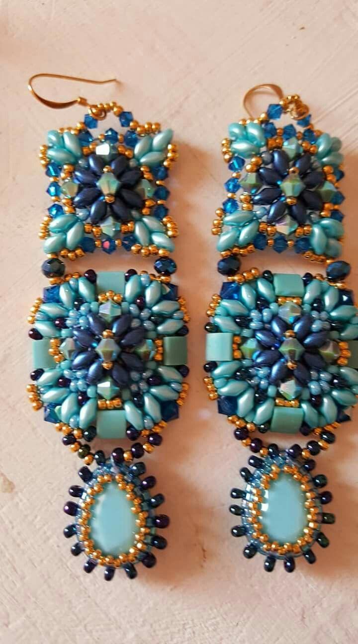 4d951a52926 Pin by Sally on beaded earrings 2 | Pinterest | Seed bead earrings ...