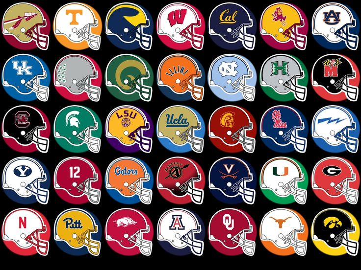 Here are some team helmets, cool image I'm saying pick