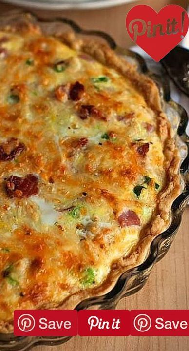 Meat Lovers Quiche Serves 8 - Ingredients Meat 4 slices Bacon cooked and crumbled  cup Ham 1 cup Sausage cooked ground Produce 2 Green onions large Refrigerated 6 Eggs large Baking & Spices 1/8 tsp Black pepper ground  tsp Salt 1 Single-crust pie dough homemade or store-bought Dairy 1 cup Cheese  cup Milk