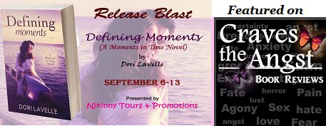 Craves the Angst features Dori Lavelle's book #DefiningMoments on her blog..Checkout the post and also enter to win a Kindle, $10 Amazon GC + the complete #MomentsIntime Novella collection!  http://cravestheangst.blogspot.in/2014/09/release-blast-with-teasers-and-giveaway.html  #ReleaseBlast #Romance