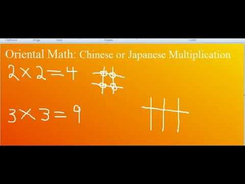 Oriental math also known as Chinese math or Japanese math