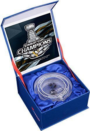 #8: Pittsburgh Penguins 2016 Stanley Cup Champions Crystal Puck - Filled With Ice From the 2016 Stanley Cup Finals - Fanatics Authentic Certified