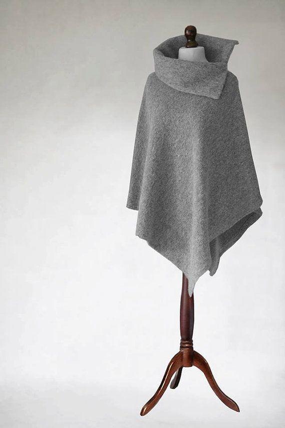 Women cape Wool poncho woman poncho wrap women by KnitwearFactory